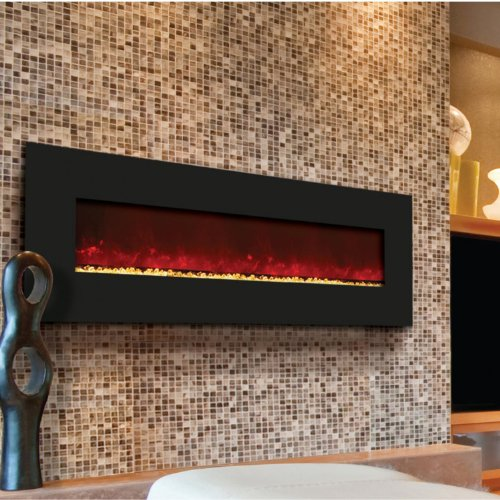 Amantii Wall Mount/Built-in 58-inch Electric Fireplace - Black Glass - Wm-bi-58 photo B00F6SFVQO.jpg