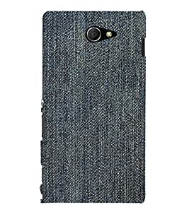 EPICCASE Rugged jean Mobile Back Case Cover For Sony Xperia M2 (Designer Case)