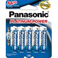 Panasonic Energy Corporation LR6XP/10B Platinum Power AA Alkaline Batteries, 10 Pack