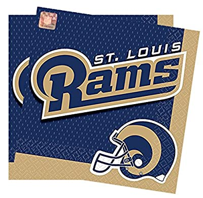 Officially Licensed NFL Luncheon Napkins 16 Count Package of 6.5 Inches