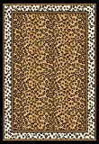 Home Dynamix Zone 56-502 Polypropylene 5-Feet 2-Inch by 7-Feet 4-Inch Area Rug, Black