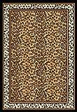 """Zone Ebony Leopard Rug Rug Size: 37"""" x 53"""""""