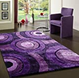 Luxurious Lavender High Quality ~8 x 11 Living Shaggy Area Rug Hand Tufted Hand Made ON SALE!