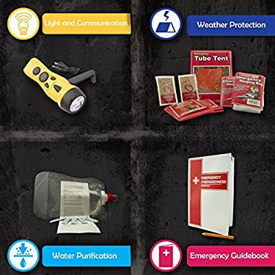 Urban Survival Bug Out Bag, Choose from 2 or 4 Person Emergency Disaster Kit, Emergency Zone Brand from Emergency Zone