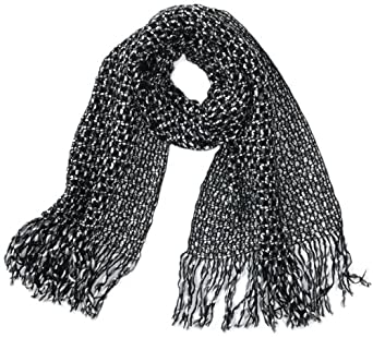 Cream Damen Tuch Ottilie Scarf, Gr. one size, Schwarz (Pitch black)
