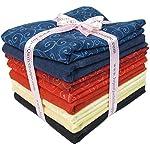 Sandy's Solids (Marbles) and Swirls Moda Fabrics Fat Quarter Bundle, 8 Piece