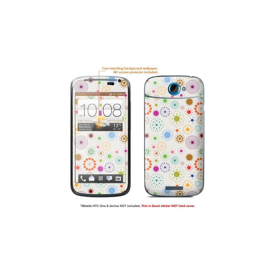 Protective Decal Skin Sticker for T Mobile HTC ONE S  T Mobile version case cover TM_OneS 373