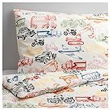 IKEA LJUDLIG 掛け布団カバー&枕カバー マルチカラー 150×200cm 50264338