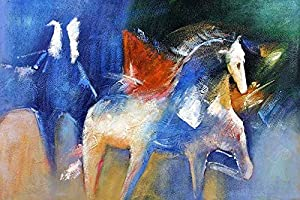 The horse is running in the fields famous for Oil paintings for sale amazon