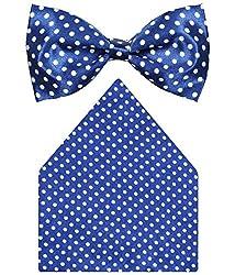 Greyon Satin Attractive Blue Casual Bow Tie (GNA041)