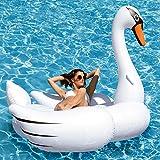 "Kangaroo's Giant Swan Pool Float; 78 1/2"" Inflatable Raft"