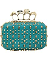 LYDC LONDON Strass Schlagring Clutch Damen Ring Tasche