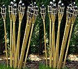 21 x Gartenfackel Holzfarben 120 cm Lange Bambusfackel STAR-LINE® Bambus