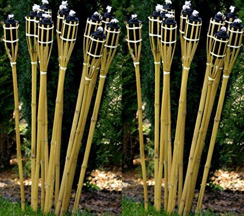 21-x-Gartenfackel-Holzfarben-120-cm-Lange-Bambusfackel-STAR-LINE-Bambus-Garten-Dekoration-Fackel-Gartenfackeln-Deko