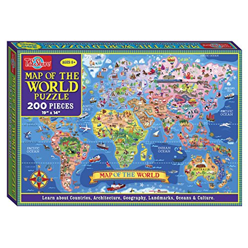 T.S. Shure Map of the World Jigsaw Puzzle (200-Piece)