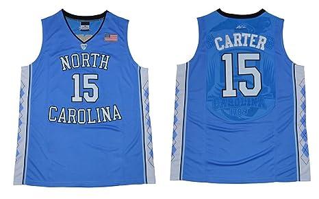 CRISGIORD 2016 Men's North Carolina Tar Heels Basketball Jersey NO.15 Vince Carter Jersey