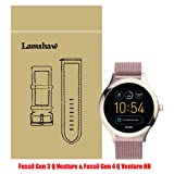 Lamshaw Smartwatch Band for Fossil Q Venture, Milanese Metal Stainless Steel Mesh Replacement Strap for GEN 3 SMARTWATCH/Fossil Gen 4 Q Venture HR - Q VENTURE (Rose Pink) (Color: Rose Pink)
