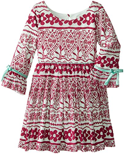 Rare editions little girls lace popover amp dot print dress dealtrend