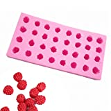 Fewo 32-Cavity 3D Raspberry Silicone Mold for Fondant Chocolate Candy Gum Paste Polymer Clay Resin Kitchen Baking Sugar Craft Cake Cupcake Decorating Tools
