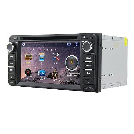 Rungrace Autoradio Navigation 6.2 Pouce 2 Din Ecran TFT pour Toyota avec Bluetooth, Navigation-Ready GPS, RDS, DVB-T (RL-302WGDR02