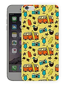 "Humor Gang Vintage Roadtrip Pattern Printed Designer Mobile Back Cover For ""Apple Iphone 7"" (3D, Matte, Premium Quality Snap On Case)"