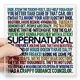 CafePress Supernatural TV Show Square Sticker 3 x 3 - Standard Clear