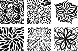 Cedar Canyon Textiles Artists Paintstiks Rubbing Plates 6/Pkg.-Floral Fantasy