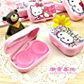 Pink Hello Kitty Pattern Contact Lenses Case