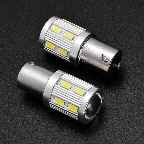2X High Power Q5 Cree 6000K 1156 7506 Ba15S P21W + 12-Smd 5730 Led Backup Reverse Front Rear Parking Light Bulbs For Audi Bmw Vw Mercedes Mini Cooper
