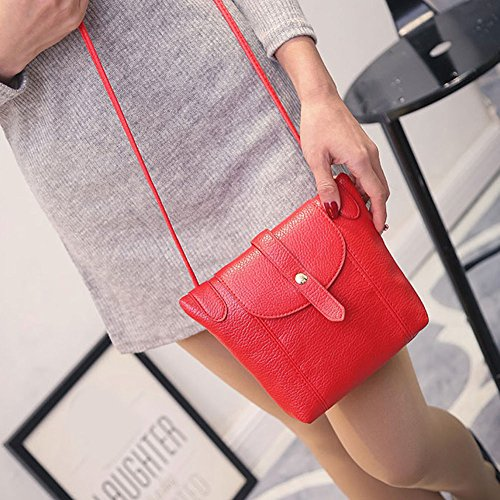 New Fashion Women Messenger Bag PU Leather Crossbody Satchel Shoulder Handbag Color Red. (Nike Cycling Backpack compare prices)