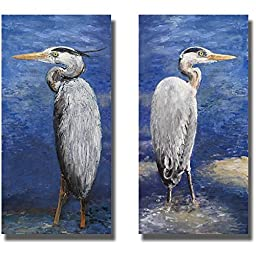 Into the Pond I & II by Walt Johnson 2-pc Premium Gallery Wrapped Canvas Giclee Art Set (Ready-to-Hang)