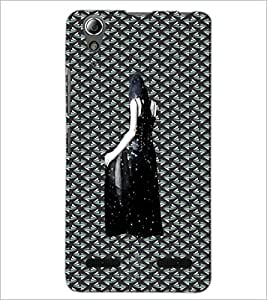 PrintDhaba Black Angel D-5642 Back Case Cover for LENOVO A6000 (Multi-Coloured)