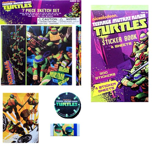 Nickelodeon Teenage Mutant Ninja Turtles 7 Piece Sketch Set - 1