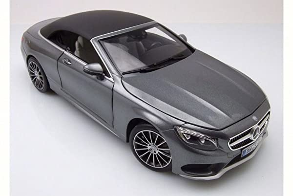 2015 Mercedes-Benz S-Class Convertible, Grey Metallic - Norev 183484 - 1/18 Scale Diecast Model Toy Car