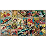RoomMates JL1290M Ultra-Strippable Marvel Classics Comic Panel Mural, 6-Feet x 10.5-Feet, 1-Pack