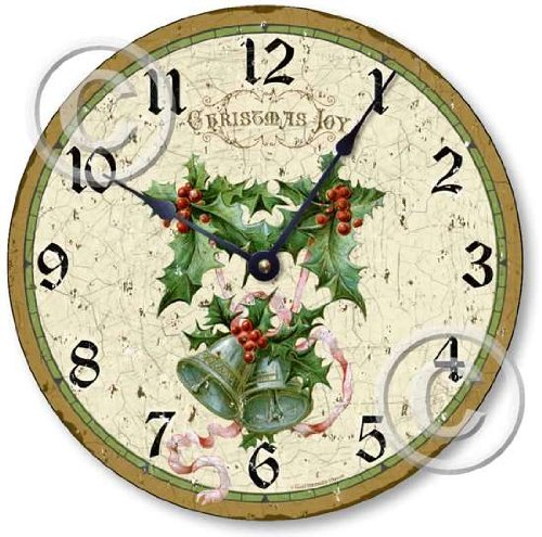 Item C2020 Vintage Style Christmas Decorative Wall Clock