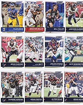HOUSTON TEXANS - 2016 Score Football 12 Card Team Set w/ Rookies (PLUS 1 Special Insert Card)