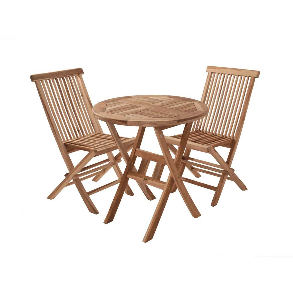 Massivholz Balkonmöbel aus Teak klappbar (3-teilig) Pharao24 kaufen