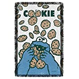 Woven Throw: Cookie Monster Crumble - Sesame Street