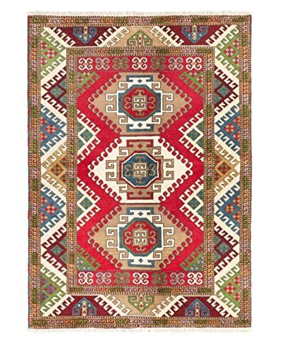"""Hand-Knotted Royal Kazak Wool Rug, Red, 5' 8"""" x 7' 10"""""""