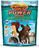 Zukes Power Bones Natural Energy Bites for Active Dogs, Tasty Beef Recipe, 6-Ounce