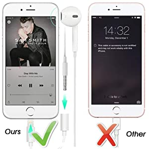 3 Pack ,Compatible with iPhone 7//7Plus //8//8Plus //X//Xs//Xs Max//XR Adapter Headphone Jack Ergonflow iPhone Headphone Adapter 3.5 mm Headphone Adapter Jack Compatible with iOS 12