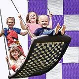 Große Mehrkindschaukel STANDARD weiß/violett für 4 Kinder, 136 x 66 cm (SPR.L.103) - das Original direkt vom Hersteller...