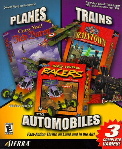 Planes, Trains & Automobiles: Curse You! Red Baron / 3D Ultra Lionel Traintown / 3D Ultra Radio Control Racers