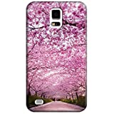 Sangu Cherry Pink Hard Back Shell Case / Cover for Samsung Galaxy S5 by Sangu