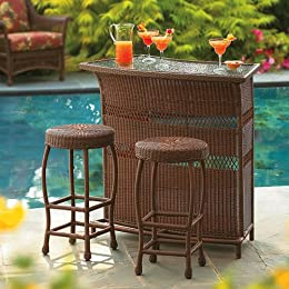 Tropical Target Tropiji Wicker Outdoor Bar Set Chairs Lounging Patio Furniture