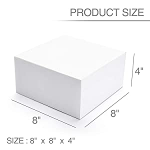 GSSUSA White Bridesmaid Proposal Boxes 12Pack 8x8x4 White Kraft Gift Boxes with Lids for Gifts, Crafting, Cupcake Boxes (Color: White, Tamaño: 8 x 8 x 4 Inch (Pack of 12))