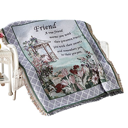 True Friend Garden Tapestry Throw (Personalized Throw Blankets compare prices)