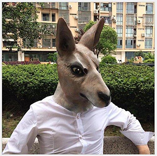 ZOO Costume Party Skue Latex Deluxe Kangaroo Full Head Mask (Giraffe Deluxe Latex Mask)