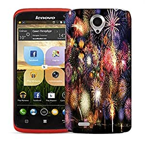 Snoogg Colorful Firecrackers Designer Protective Back Case Cover For LENOVO S820